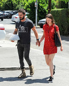 Shia LeBeouf and Mia Goth are seen on August 18 2014 in Los Angeles California