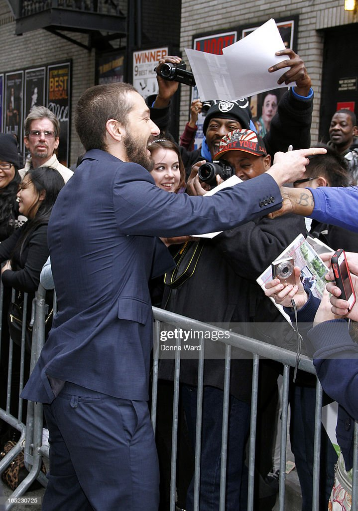 Shia LeBeouf arrives for the 'Late Show with David Letterman' at Ed Sullivan Theater on April 1, 2013 in New York City.