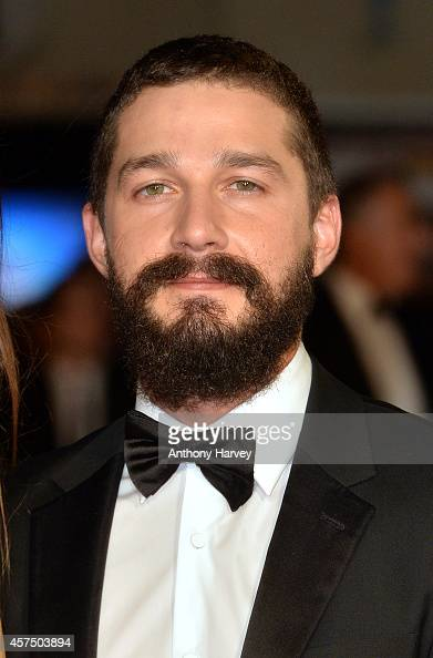 Shia LeBeouf attends the closing night European Premiere gala red carpet arrivals for 'Fury' during the 58th BFI London Film Festival at Odeon...