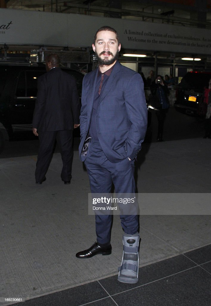 Shia LeBeouf attends 'The Company You Keep' New York Premiere at The Museum of Modern Art on April 1, 2013 in New York City.