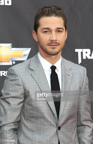 Shia LeBeouf attends the 'Transformers Dark Of The Moon' premiere in Times Square on June 28 2011 in New York City