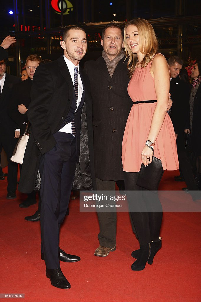 Shia LeBeouf, Til Schweiger and Svenja Holtmann attend the 'The Neccessary Death of Charlie Countryman' Premiere during the 63rd Berlinale International Film Festival at Berlinale Palast on February 9, 2013 in Berlin, Germany.