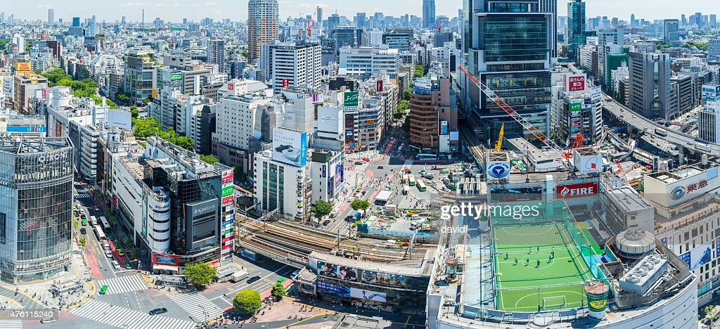 Shibuya Crossing Aerial Panorama