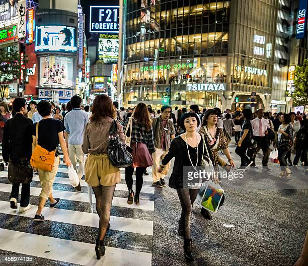 日本東京渋谷スクランブル交差点
