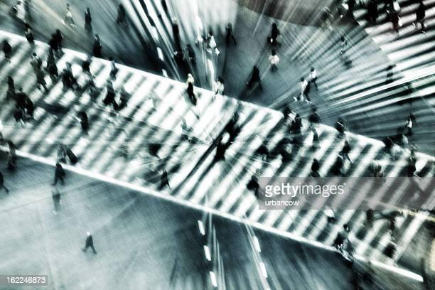 Shibuya crossing, zoom blurred