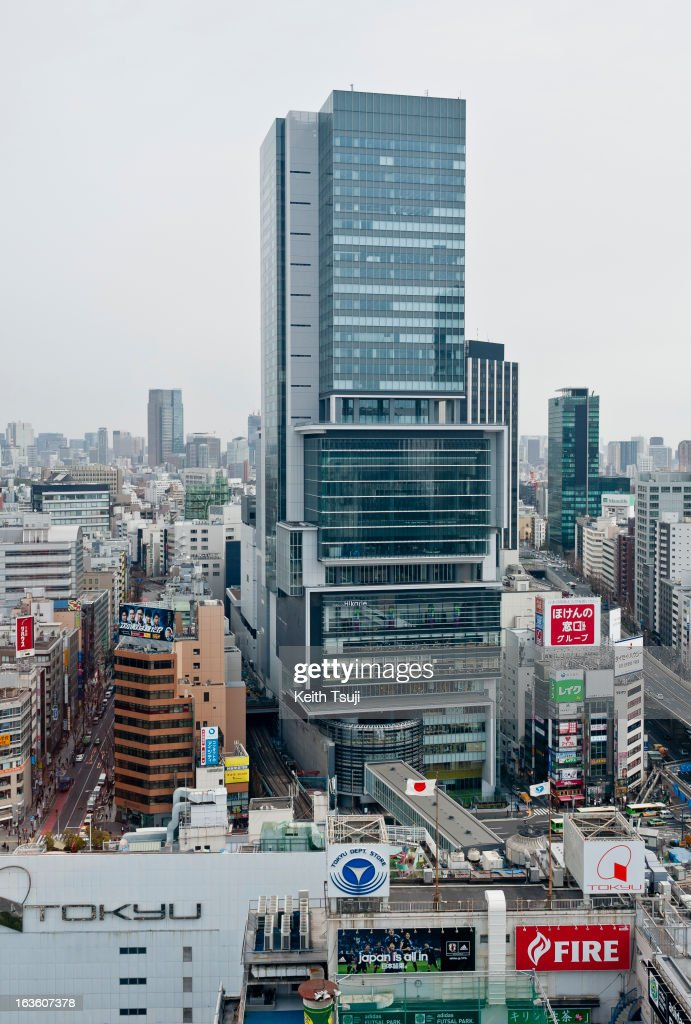 Shibuya Hikarie, a new high-rise complex with cultural space just east of Shibuya Station, offers office space, shopping and dining on March 13, 2013 in Tokyo, Japan. Tokyu Toyoko Line Shibuya Station will be relocated underground and will join the Fukutoshin Line in March 2013, rendering Shibuya out of use after 85 years of history. A large scale redevelopment around Shibuya station is also scheduled.