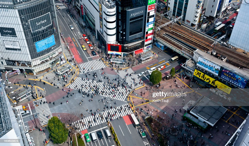Shibuya is famous for its scramble crossing, it is located in front of the Shibuya Station Hachiko exit. Shibuya Station and surroundings will be undergoing major redevelopment over the coming years. Tokyu Toyoko Line Shibuya Station will be relocated underground and will join the Fukutoshin Line in March 2013.