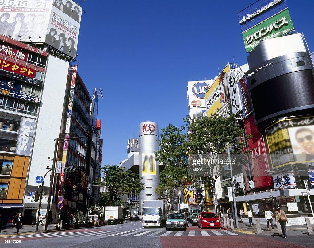 Shibuya Station Crossing, Shibuya, Tokyo, Japan : Stock Photo