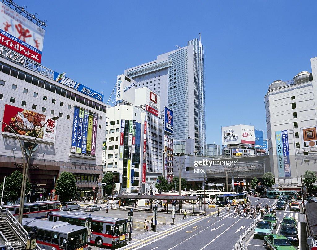 Shibuya Station West Exit, Shibuya, Tokyo, Japan : Stock Photo