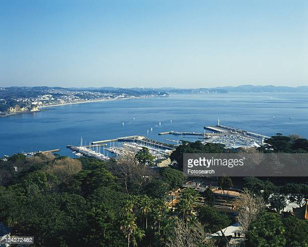 Shichirigahama Beach, Shonan, Kanagawa Prefecture, Japan, High Angle View, Pan Focus