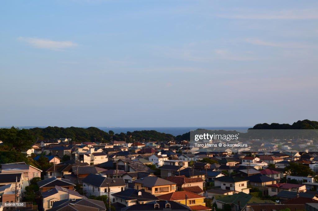 Shichirigahama town in Kamakura city in Kanagawa prefecture in the sunset : ストックフォト