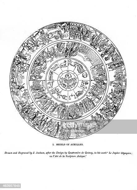 Shield of Achilles 1843 An engraving from The ArtUnion Scrap Book Henry G Bohn London 1843