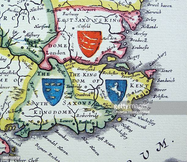 Shields of Sussex Kent and Essex from the Heptarchy a collective name applied to the AngloSaxon kingdoms of south east and central England during...