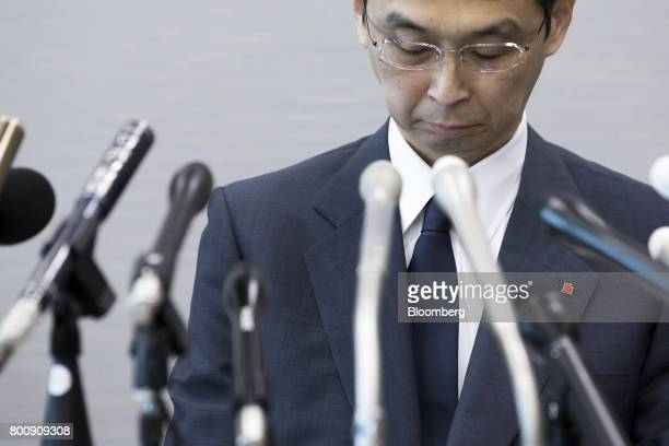 Shigehisa Takada chairman and chief executive officer of Takata Corp attends a news conference in Tokyo Japan on Monday June 26 2017 Takata filed for...