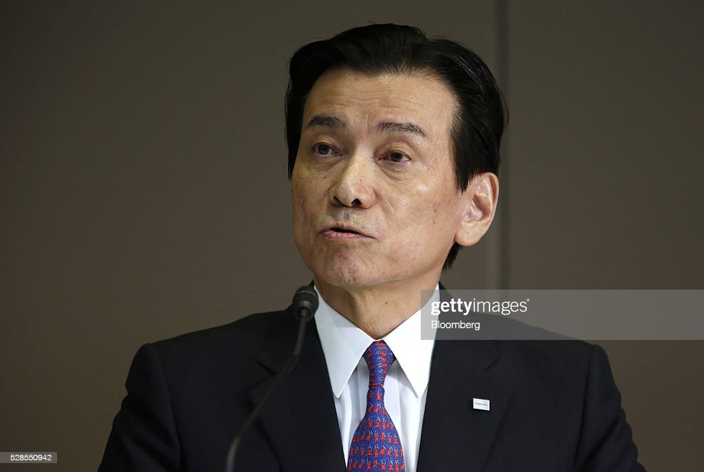 Shigenori Shiga, incoming chairman of Toshiba Corp., speaks during a news conference in Tokyo, Japan, on Friday, May 6, 2016. Toshiba named Tsunakawa to be its next president as the troubled electronics conglomerate promotes from within after an accounting scandal. Photographer: Tomohiro Ohsumi/Bloomberg via Getty Images