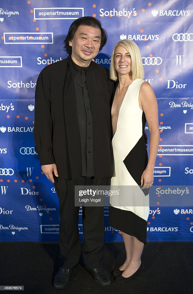 <a gi-track='captionPersonalityLinkClicked' href=/galleries/search?phrase=Shigeru+Ban&family=editorial&specificpeople=2094801 ng-click='$event.stopPropagation()'>Shigeru Ban</a> and Heidi Zuckerman Jacobson attend Audi At Aspen Art Museum 2014 ArtCrush Summer Benefit on August 1, 2014 in Aspen, Colorado.