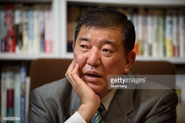 Shigeru Ishiba Japan's minister in charge of regional revitalization speaks during an interview in Tokyo Japan on Tuesday June 14 2016 Negative...