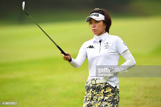 Shiho Oyama of Japan looks on during the second round of the Earth Mondamin Cup at the Camellia Hills Country Club on June 26 2015 in Sodegaura Japan