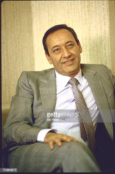 Shiite moslem leader minister of State for So Lebanon Nabih Berri at his home