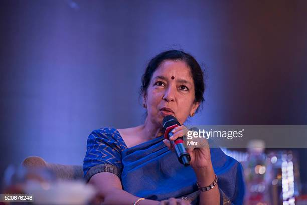 Shikha Sharma Managing Director CEO of Axis Bank at the book launch of Working Out of the Box on September 15 2015 in Mumbai India