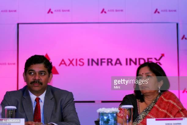 Shikha Sharma MD CEO of Axis Bank photographed with Srinivasan Varadarajan ED Corporate bankingAxis Bank