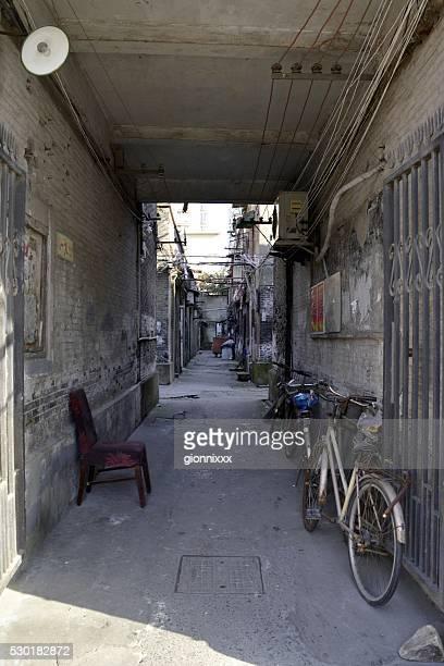 Shikumen alley in Hongkou district, Shanghai, China