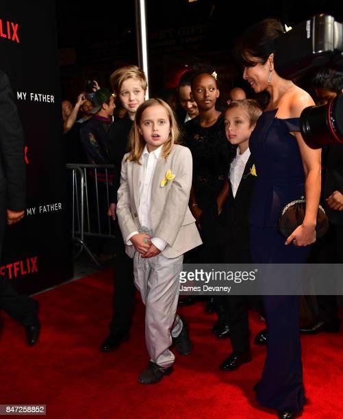 Shiloh JoliePitt Vivienne JoliePitt Zahara JoliePitt and Knox Leon JoliePitt arrive to the DGA Theater for the New York premiere of 'First They...