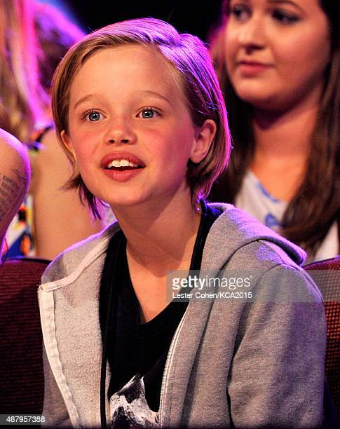 Shiloh Nouvel JoliePitt in the audience during Nickelodeon's 28th Annual Kids' Choice Awards held at The Forum on March 28 2015 in Inglewood...