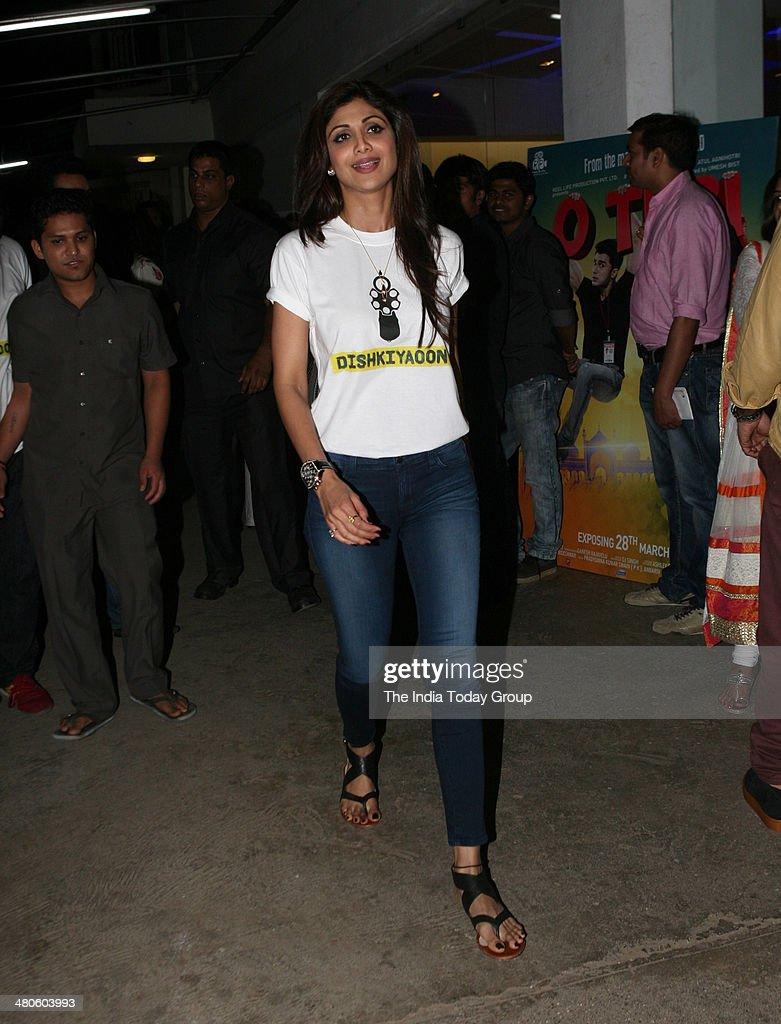 Shilpa Shetty at the screening of the movie Dishkiyaaoon in Mumbai.