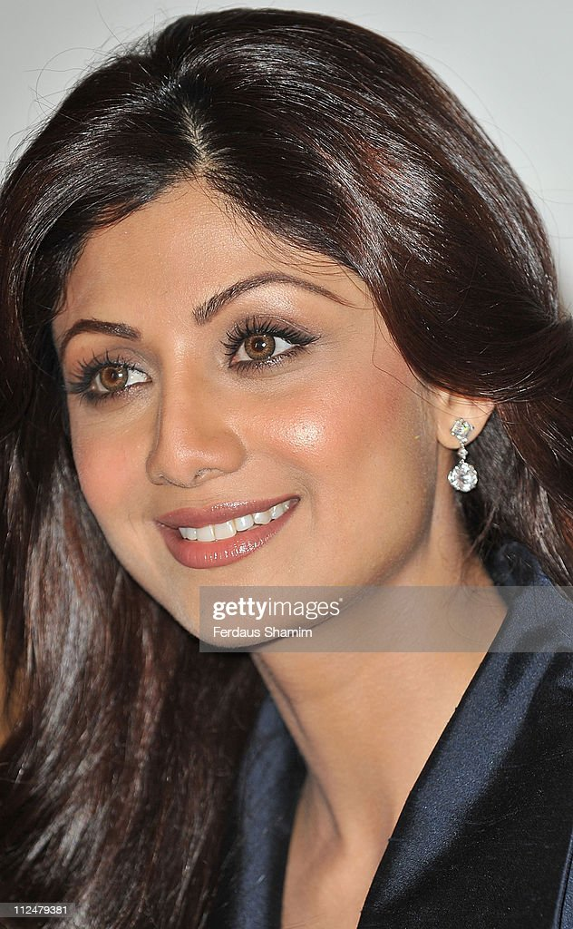 Shilpa Shetty attends a photocall to launch new product at The Tiffinbites on August 24 2009 in London England