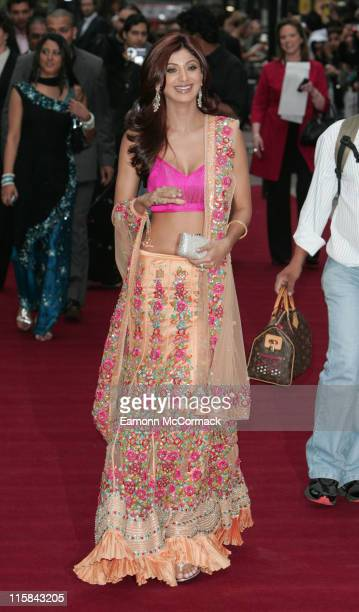 Shilpa Shetty during 'Life In AMetro' London Premiere Red Carpet Arrivals at Empire Leicester Square in London Great Britain
