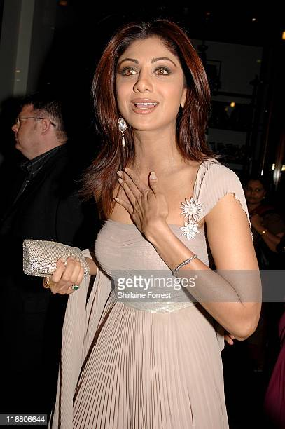 Shilpa Shetty during Shilpa Shetty's Birthday Bash Green Carpet Arrivals at Victoria Quarters in Leeds United Kingdom