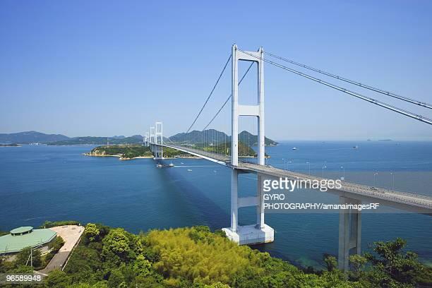 Shimanami Sea Route and suspension bridge, Imabari, Ehimie Prefecture, Japan