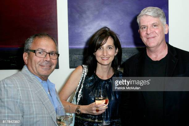 Shimon Bokovza Danielle Billera and John Lyons attend JAKE GYLLENHAAL Hosts a Fundraising Dinner Party for EDIBLE SCHOOLYARD NYC at CRAFT on October...