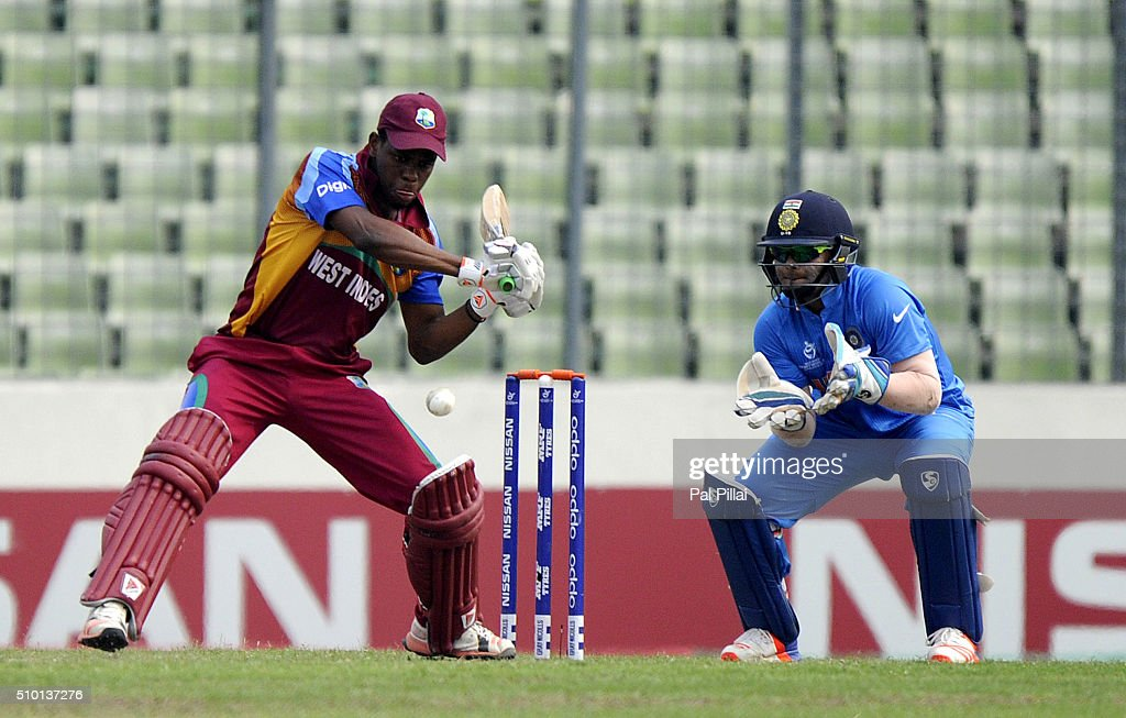 Shimron Hetmyer of West Indies U19 bats during the ICC U19 World Cup Final Match between India and West Indies on February 14, 2016 in Dhaka, Bangladesh.