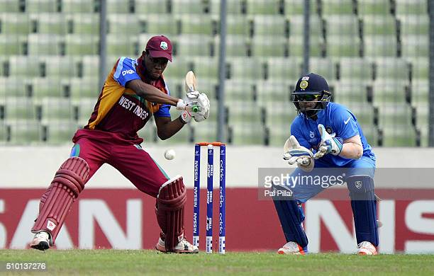 Shimron Hetmyer of West Indies U19 bats during the ICC U19 World Cup Final Match between India and West Indies on February 14 2016 in Dhaka Bangladesh