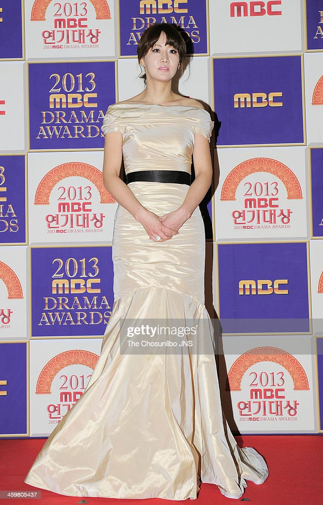 Shin Eun-Kyung arrives at the red carpet of the 2013 MBC drama awards at MBC Open hall on December 30, 2013 in Seoul, South Korea.