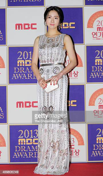 Shin SeGyeong arrives at the red carpet of the 2013 MBC drama awards at MBC Open hall on December 30 2013 in Seoul South Korea
