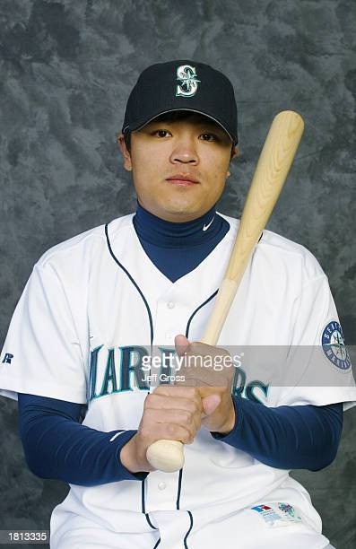 Shin Soo Choo of the Seattle Mariners poses for a portrait during the Mariners' spring training Media Day on February 19 2003 at Peoria Stadium in...