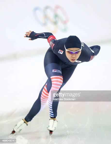Speed skating women legs