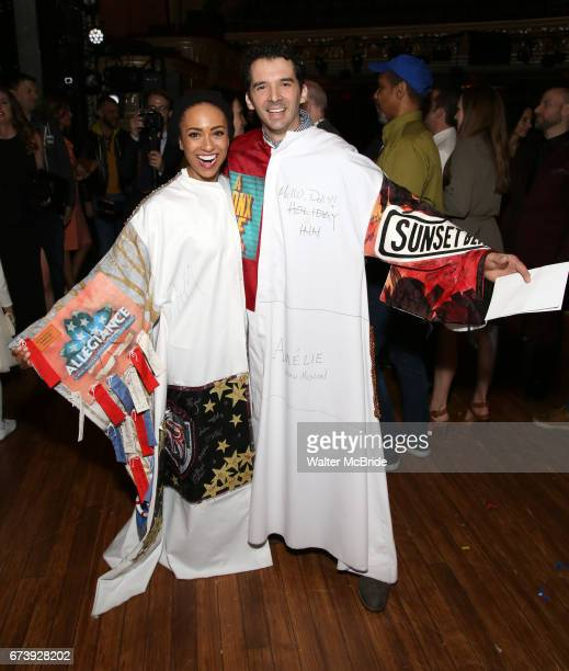 Shina Ann Morris and Kevin Worley attend the Actors' Equity Broadway Opening Night Gypsy Robe Ceremony honoring Kevin Worley from 'Bandstand' at the...