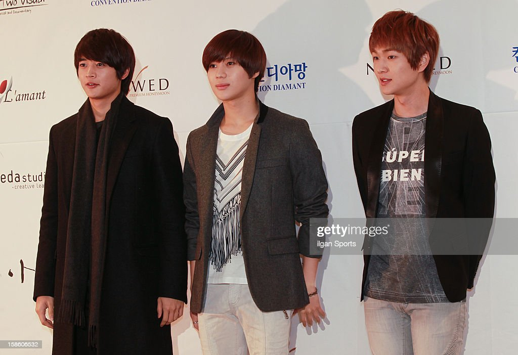 SHINee attend Hong Rok-Gi's wedding at Convention diaMant on December 16, 2012 in Seoul, South Korea.