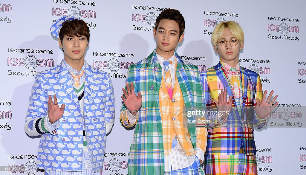 SHINee attend the SM '10 Corso Como Seoul Melody' Launch Party on March 28, 2013 in Seoul, South Korea.