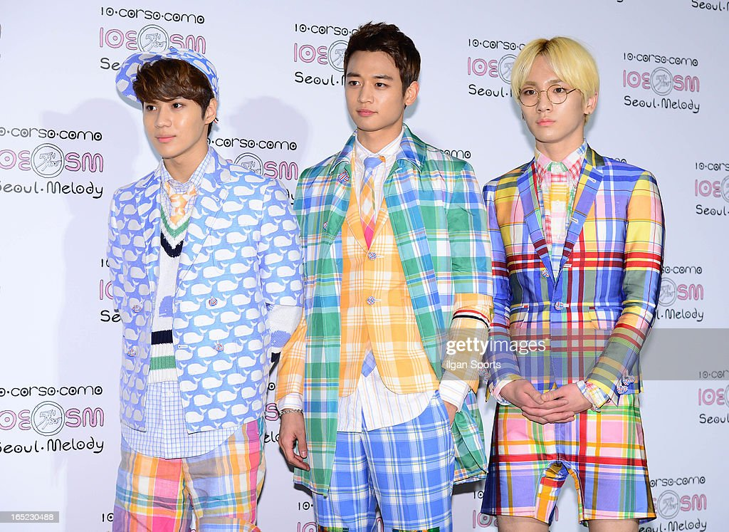 <a gi-track='captionPersonalityLinkClicked' href=/galleries/search?phrase=SHINee&family=editorial&specificpeople=6748080 ng-click='$event.stopPropagation()'>SHINee</a> attend the SM '10 Corso Como Seoul Melody' Launch Party on March 28, 2013 in Seoul, South Korea.