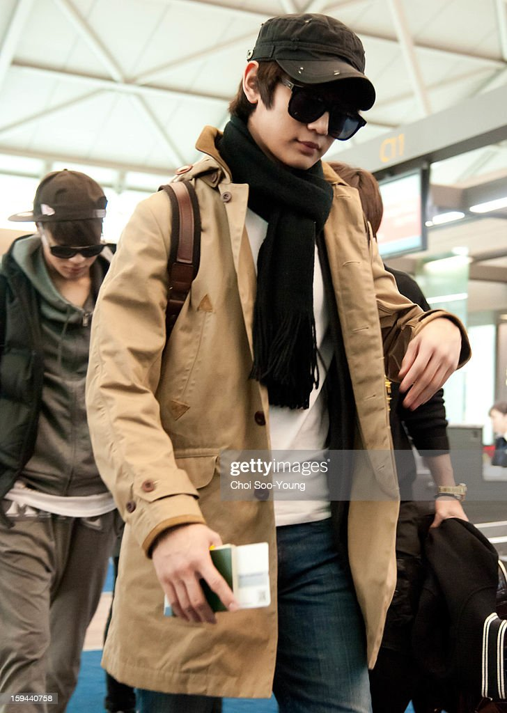 SHINee is seen at Incheon International Airport on January 13, 2013 in Incheon, South Korea.