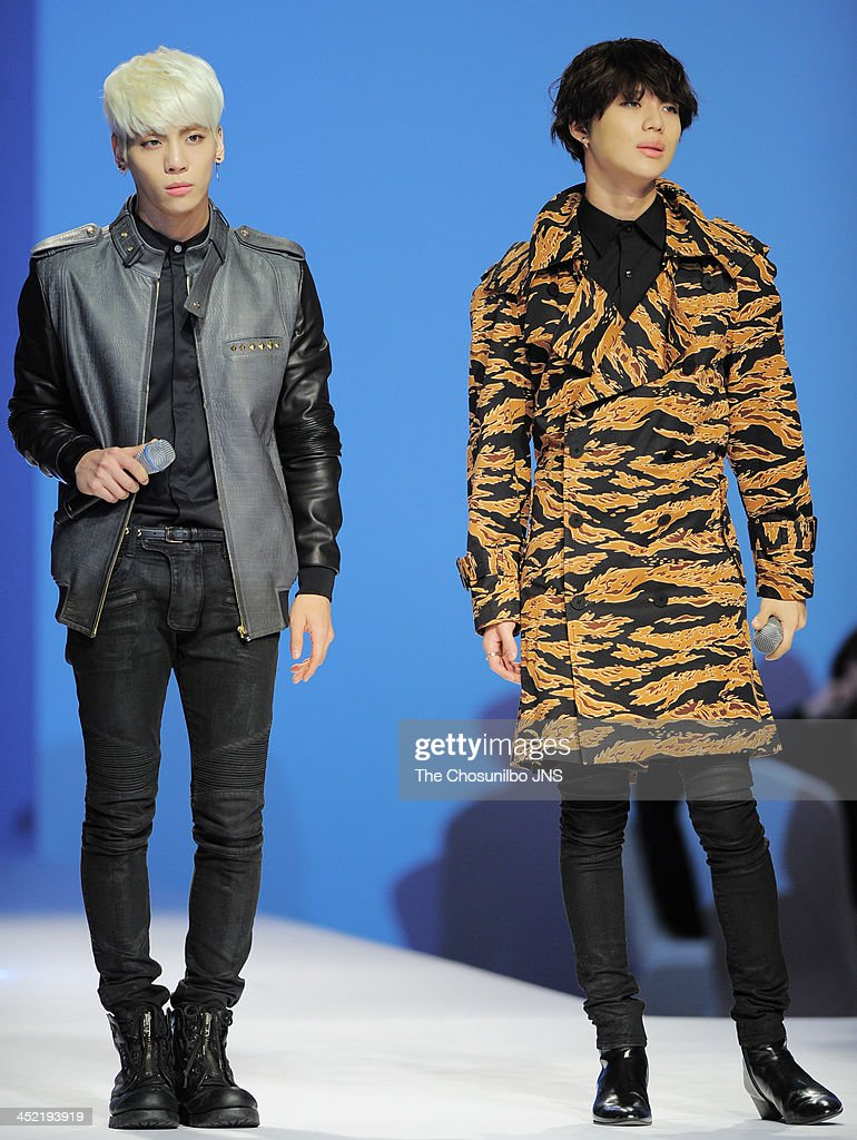 SHINee perform during the MCM 2014 S/S Collection at Lotte Hotel on November 26, 2013 in Seoul, South Korea.