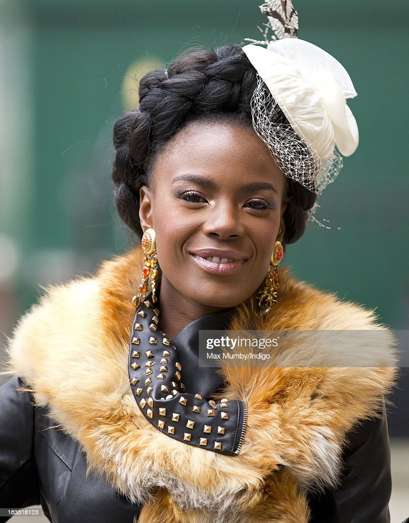 Shingai Shoniwa arrives at Westminster Abbey to attend The Commonwealth Day Observance on March 11, 2013 in London, England. Queen Elizabeth II, who is the head of the Commonwealth, was due to attend the event, but cancelled as she continues her recovery after a brief illness. Commonwealth Day Observance takes place annually on the second Monday in March, and this year's theme is 'Opportunity Through Enterprise'.