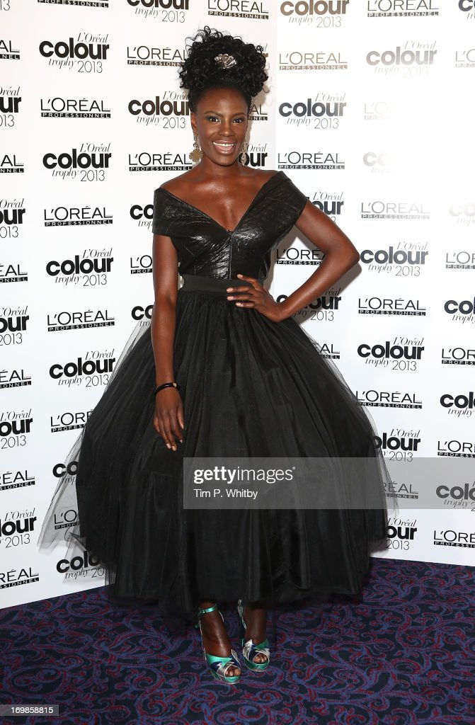 Shingai Shoniwa arrives the L'Oreal Colour Trophy Awards 2013 at Grosvenor House, on June 3, 2013 in London, England.