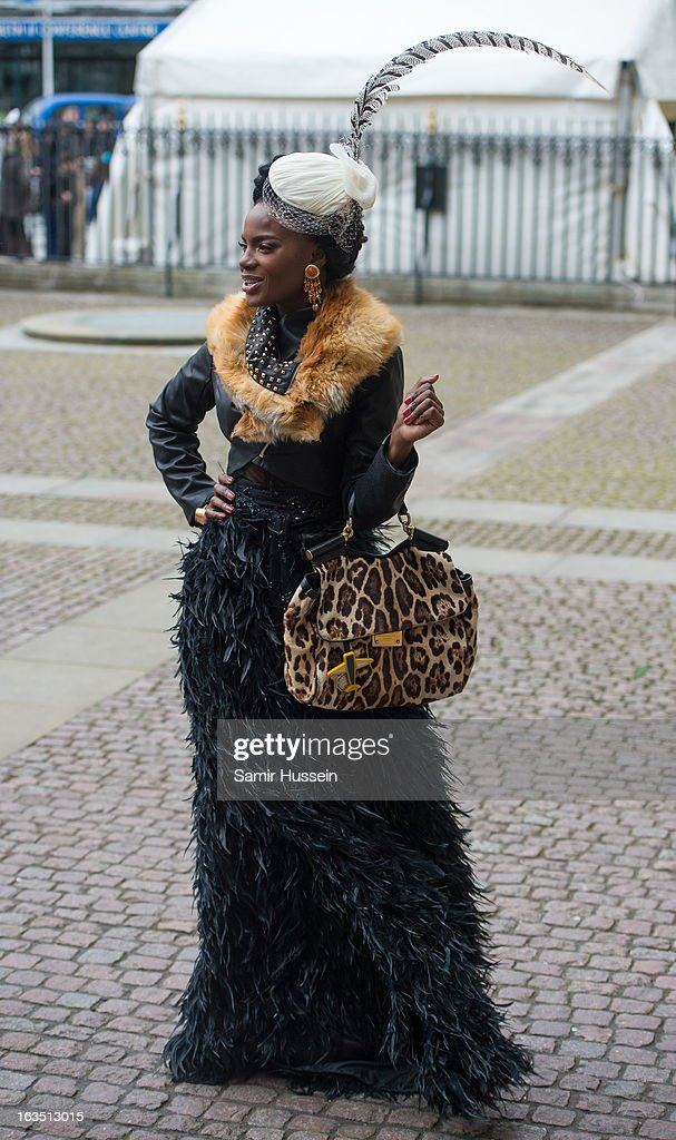 Shingai Shoniwa attends the Commonwealth Day Observance At Westminster Abbey on March 11, 2013 in London, England.