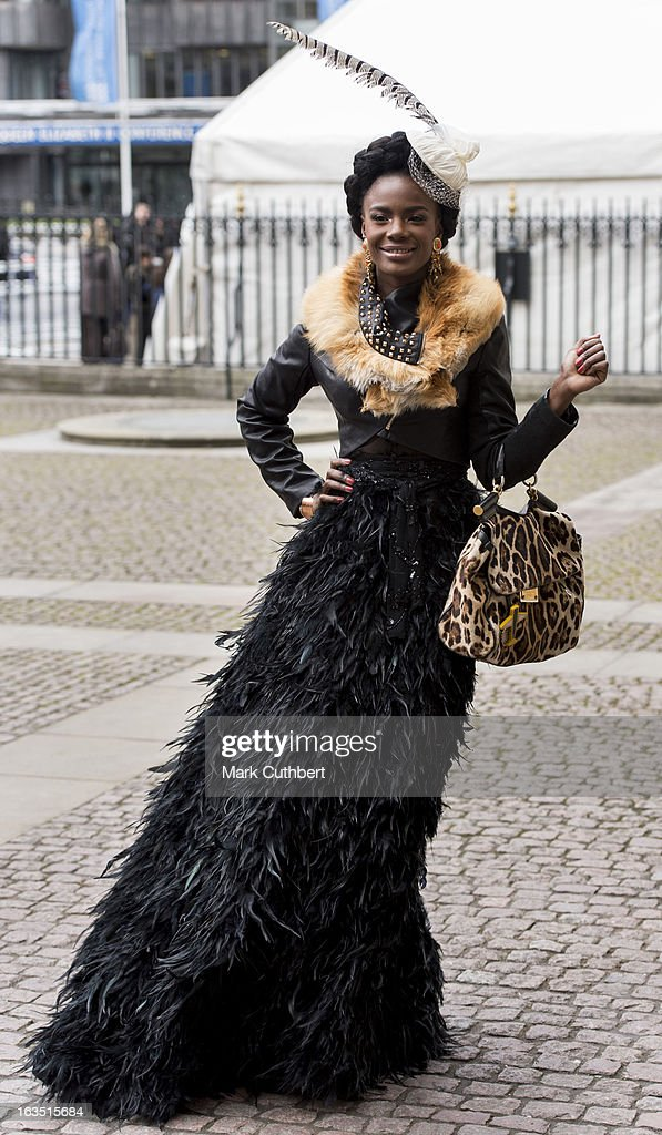 Shingai Shoniwa attends The Commonwealth Day Observance At Westminster Abbeyon March 11, 2013 in London, England.